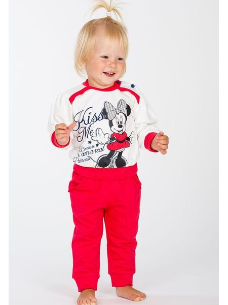 Утепленная пижамка для девочки с Minnie Mouse Planetex Planetex_WD100357
