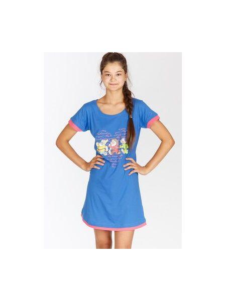 Трикотажная домашняя сорочка с гномами Planetex Planetex_WD22562 bluette