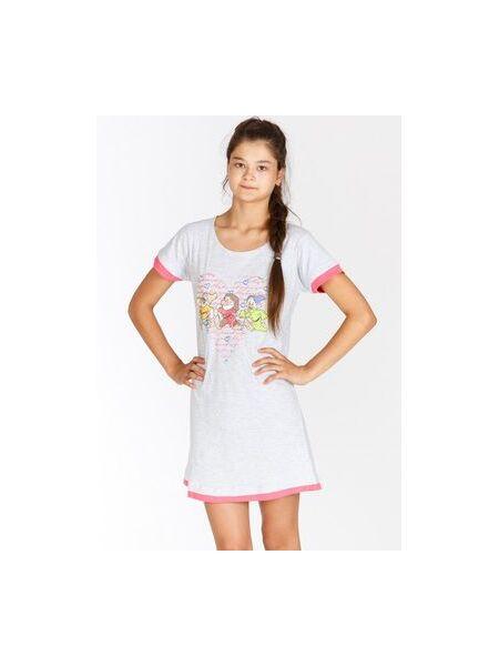 Очаровательное домашнее платье-сорочка с гномами Planetex Planetex_WD22562 grigio