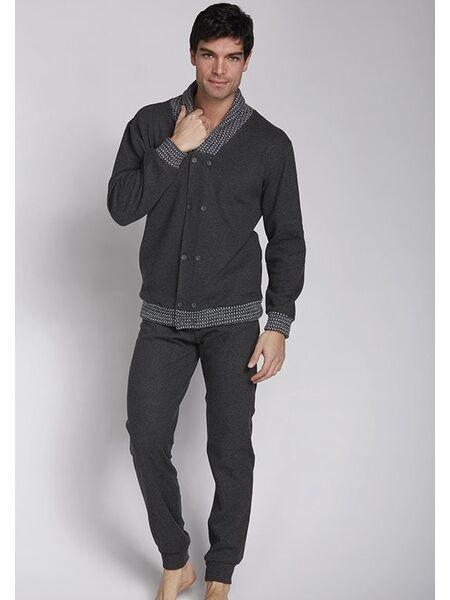Серый мужской костюм для дома Manam MU_9751