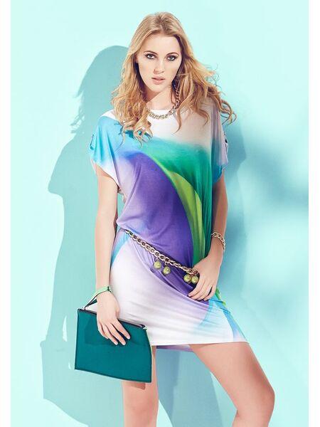 Летнее платье-туника из струящейся вискозы Sunnyday DiBen_Santiago