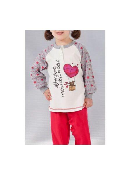 Теплая пижама из хлопка для девочек Stella Due Gi В5721
