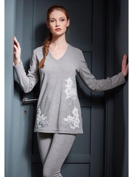 Элегантный женский домашний костюм-пижама Verdiani VI_4616