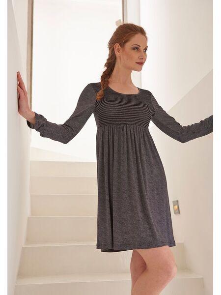 Вискозное домашнее платье с длинным рукавом Verdiani VI_4632