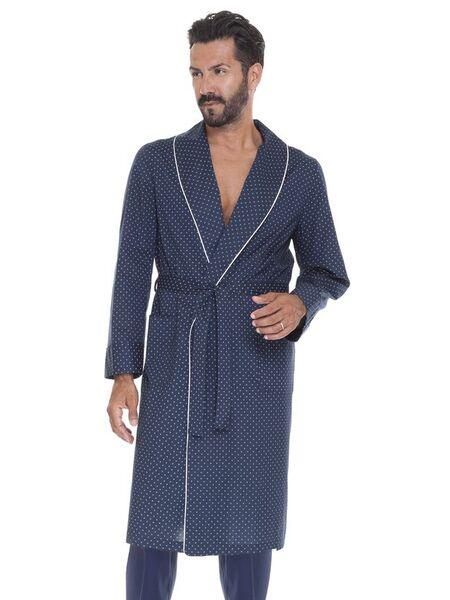 Летний мужской темно-синий халат B&B B&B_Siena