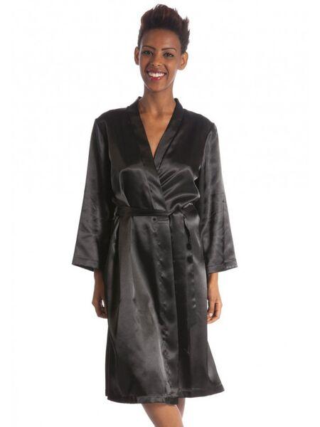 Шикарный халат из натурального шелка B&B B&B_Julia nero