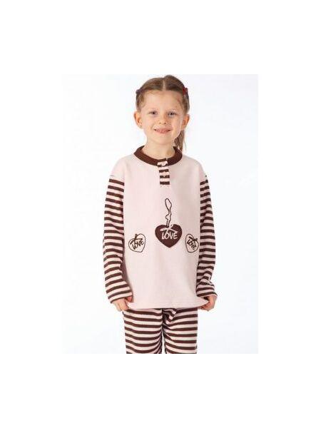 Теплый детский домашний комплект-пижама Snelly Snelly_40032 rosa