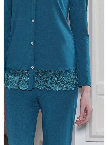 Женская пижама цвета морской волны Miss Lingerie DiBen_Aurora