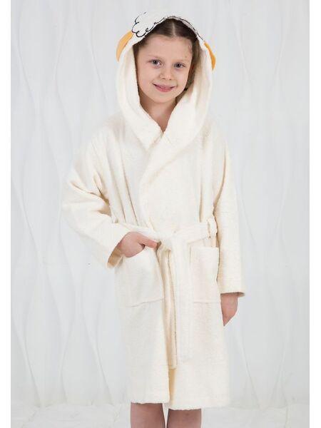 Детский халат с ушками на макушке Happy people HP_2842 panna