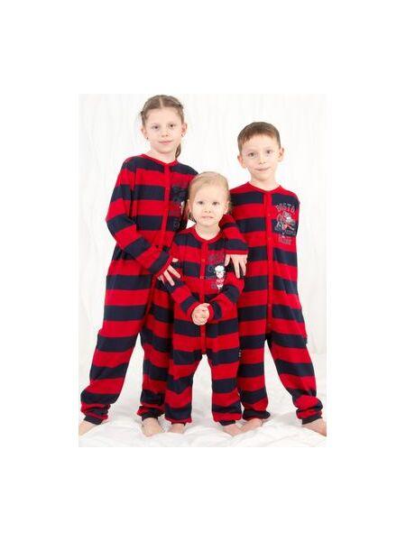 Прикольный полосатый комбинезон для мальчиков Happy people HP_3216