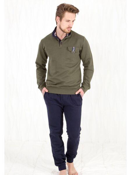 Защитного цвета кофта + темно-синие брюки Twisi Twisi_Geraldo