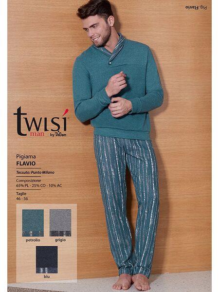 Мужская домашняя одежда цвета морской волны Twisi Twisi_Flavio