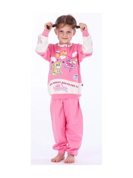 Теплая розовая пижама для девочки Stella Due Gi В2573rosa