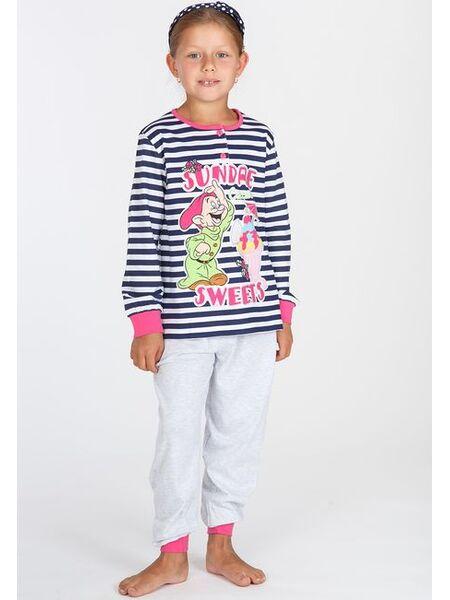 Яркая пижама для девочек с гномиком Planetex Planetex_WD22511В