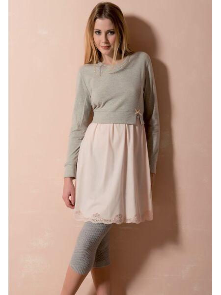 Оригинальное комбинированное платье для дома Rebecca & Bross. R&B_3207