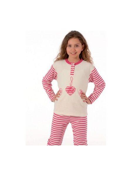 Утепленная пижамка для девочки Snelly Snelly_40032 panna