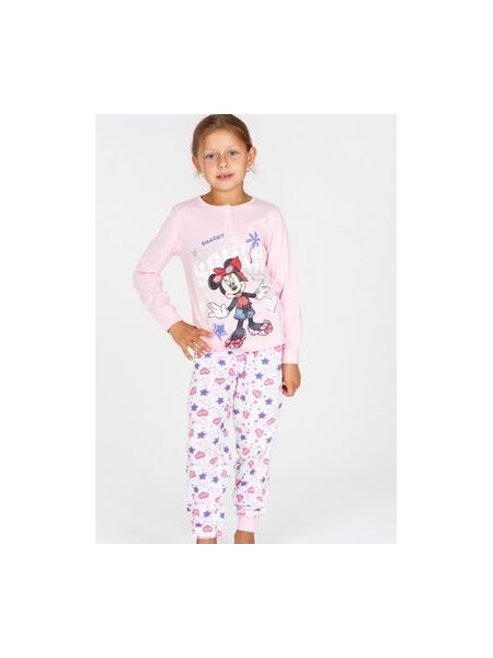 Нежная хлопковая пижамка для девочки Planetex Planetex_WD22505