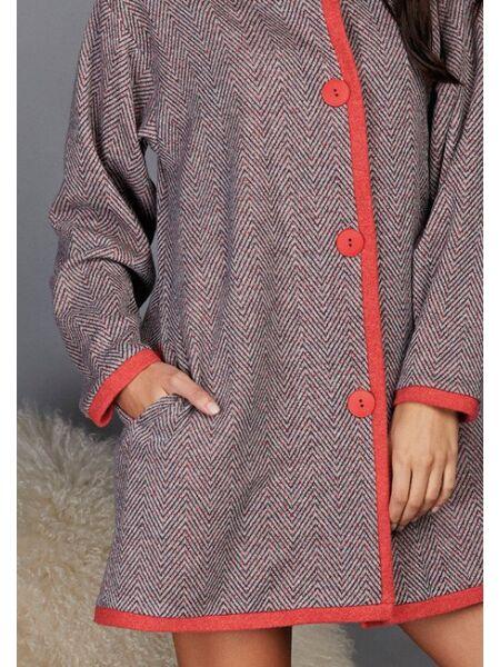Теплый женский халат на пуговицах Vilfram V_9496