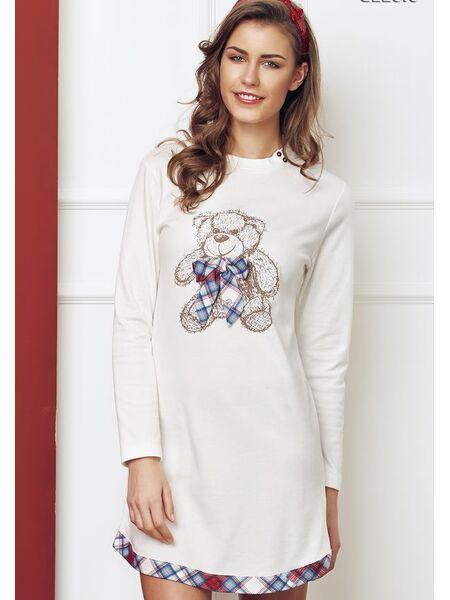 Короткое домашнее платье-сорочка с мишкой Miss Lingerie DiBen_Sister