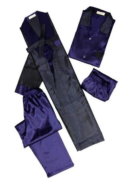 Шелковый халат и пижама Nusa (LNS)