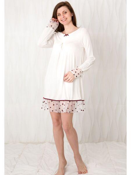 Романтичная ночная сорочка с сердечками Bisbigli Bis_02219