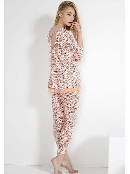 Пестрая пижама из вискозы Rebecca & Bross. R&B_3531