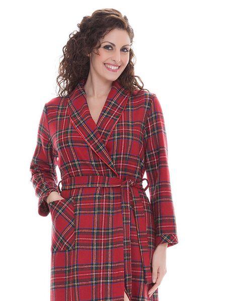 Теплый женский халат с шерстью B&B B&B_Edy red