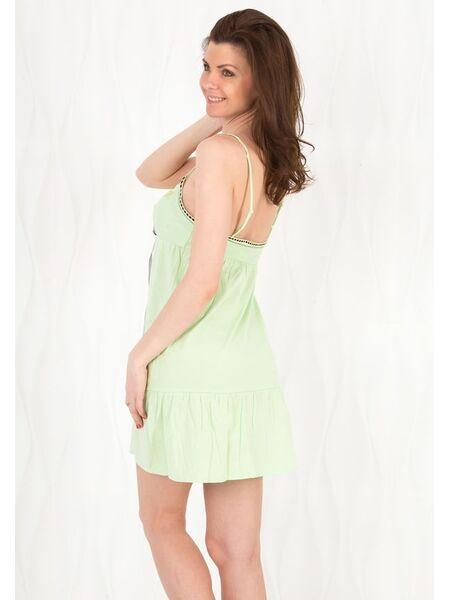 Милая однотонная сорочка на тонких бретелях Rebecca & Bross. R&B_3930 verde