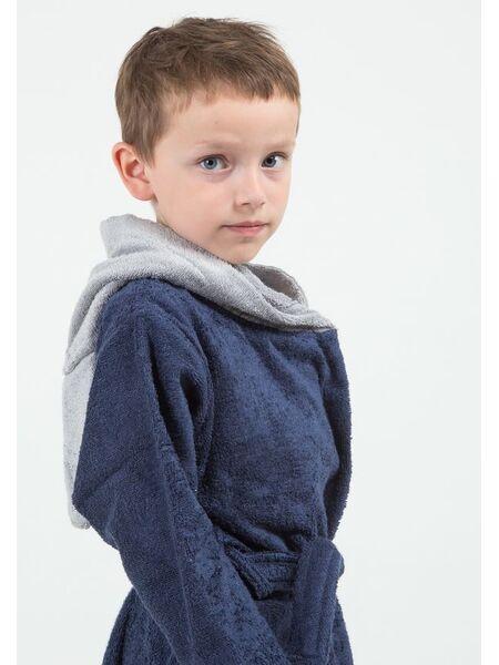 Детский махровый халат с волком Happy people HP_2847 blu