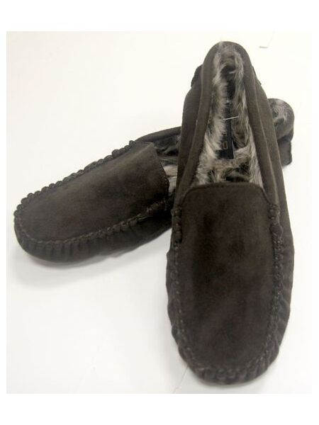 Тапочки мужские домашние коричневые в виде мокасин Alto Milano Ande marrone