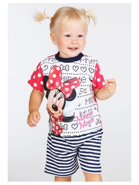 Футболка и шортики для дома с Minnie Mouse Planetex Planetex_WD100342