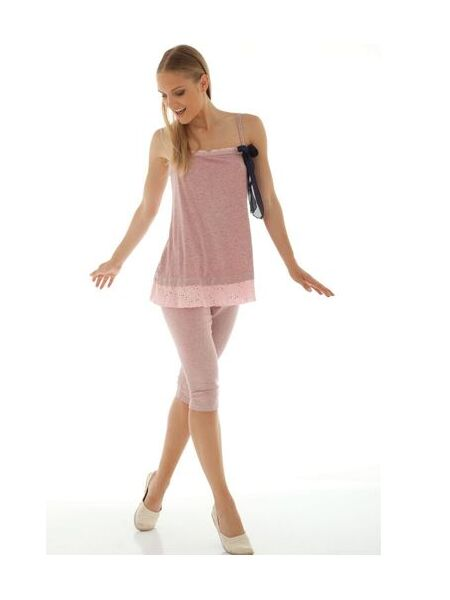 Летняя молодежная пижамка с бриджами Rebecca & Bross. R&B_3130