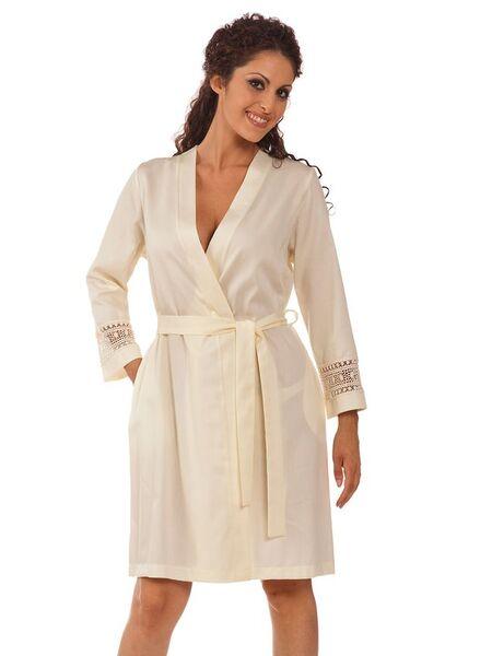 Женский халат с шитьем на рукавах B&B B&B_5600