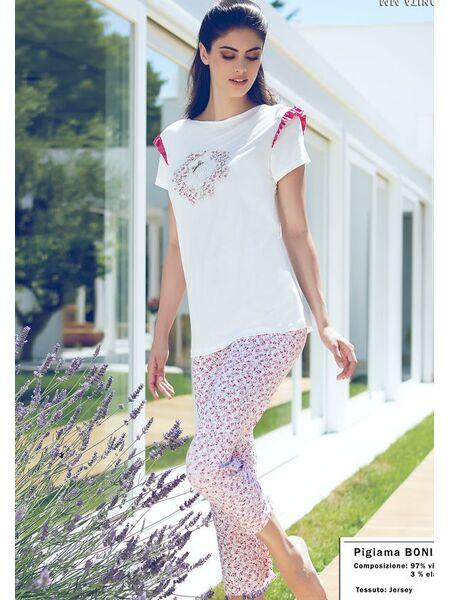 Женская пижама с милыми цветочками Miss Lingerie DiBen_Bonita