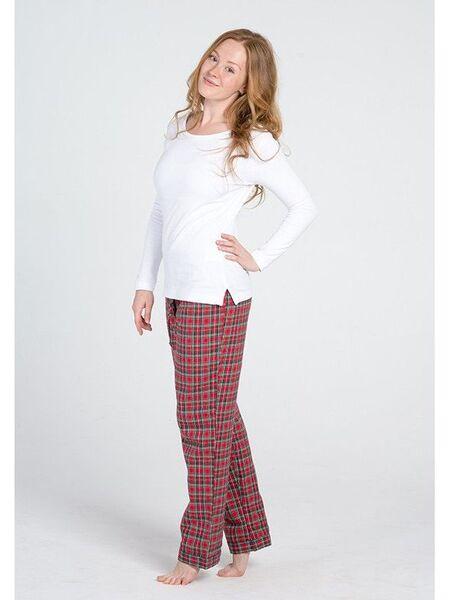 Клетчатые фланелевые брюки и трикотажная кофта Lady Law Pellegrini_Mary flanella 641
