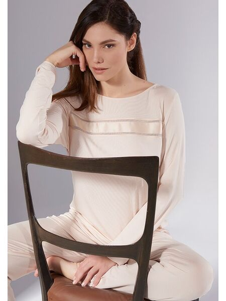 Пижама из микромодала персикового цвета Verdiani VI_4804