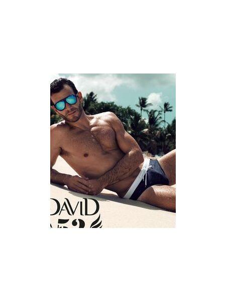 Темные плавки с контрастным белым поясом David David_3930-D4_13
