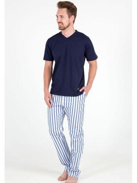 Мужская пижама с полосатыми брюками B&B B&B_5111