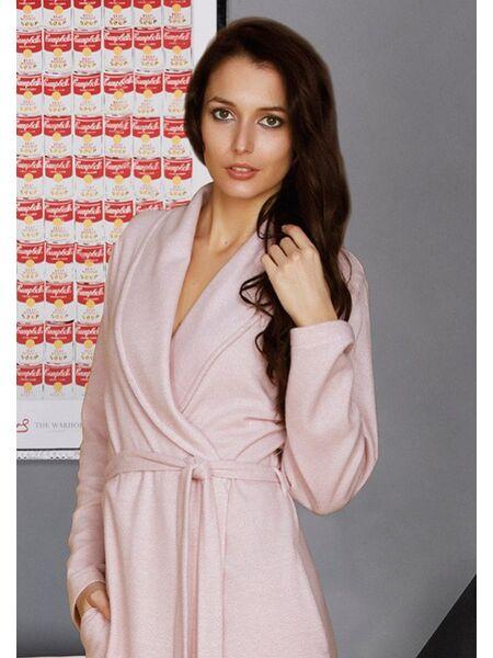 """Красивый длинный халат """"в елочку"""" Manam М_8945"""