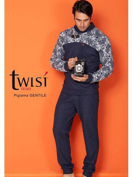 Стильный мужской костюм для дома синего цвета Twisi Twisi_Gentile