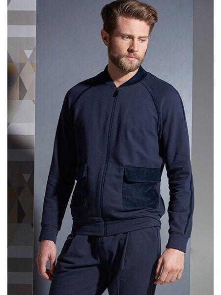 Синий мужской спортивный костюм на молнии Verdiani VI_U5834