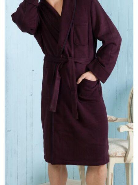 Классический мужской халат из смешанной ткани B&B B&B_Dallas bordo