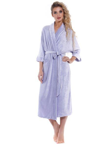 Элегантный велюровый халат Expressive (PM France 398)
