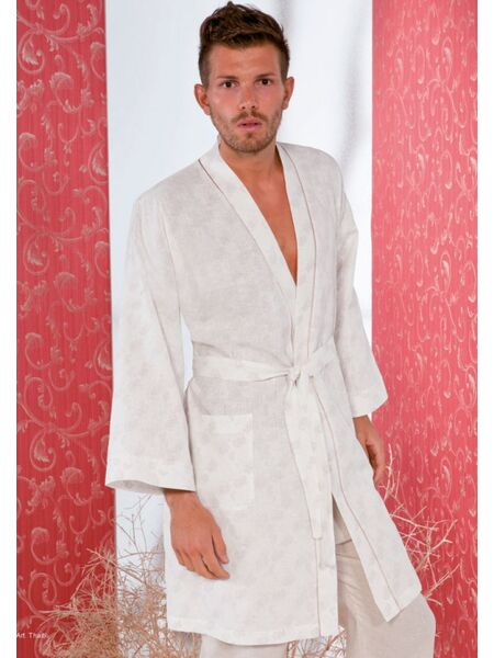 Льняной мужской халат-кимоно B&B B&B_Tahiti