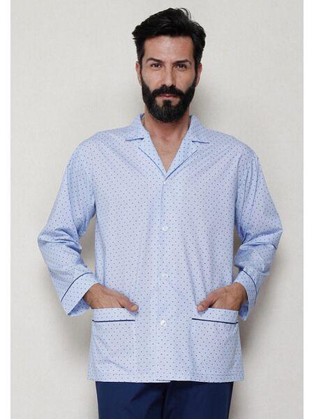 Итальянская хлопковая пижама для мужчин B&B B&B_U7516