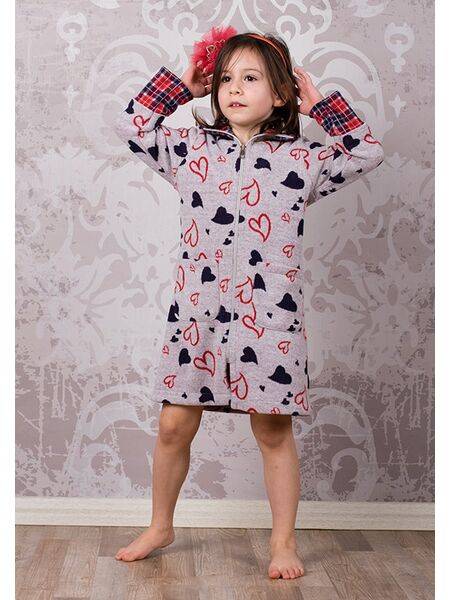 Детский халатик на молнии BoboSette BoboSette_Heidi