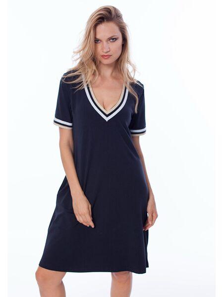 Темно-синее летнее трикотажное платье Luna di Giorno Home LDG_661