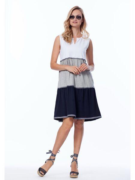 Трехцветное летнее платье Luna di Giorno Home LDG_674