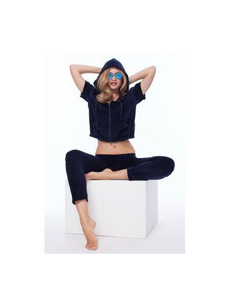 Женский велюровый костюм с коротким рукавом Luna di Giorno Home LDG_9001