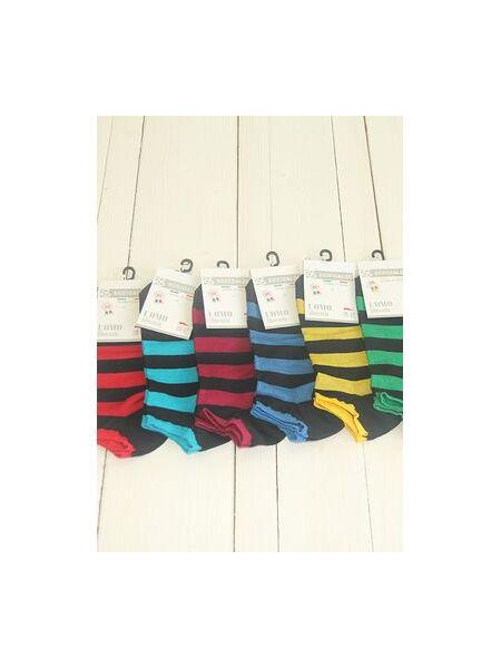 Короткие носки в яркую полоску Best Calze Best Calze_Набор 4K40 темные